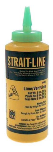 IRWIN Tools STRAIT-LINE 64907 High-Visibility Marking Chalk, 8-ounce, Green (64907)