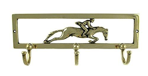 Umbria Equitazione Appendiabiti con fantino in ottone a 3 ganci.