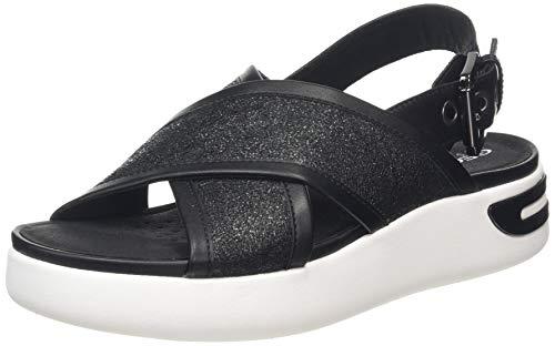 Geox D OTTAYA, Sandali con Cinturino alla Caviglia Donna, Nero (Black C9999), 40 EU