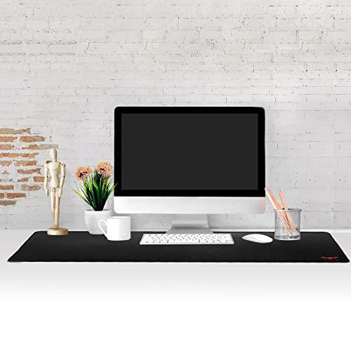 Gaming Mauspad XXL (900 x 400 x 3 mm) havit Wasserdicht Tischunterlage Extended Mousepad Office mit Gel Rubber (Schwarz)