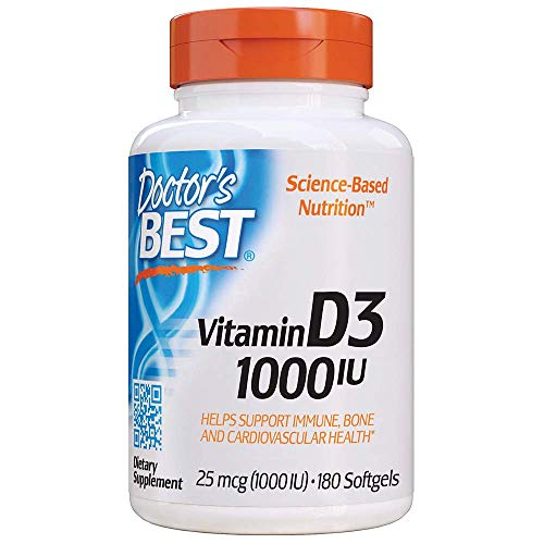 Doctor's Best Vitamin D3, 1000IU, 180 Softgels