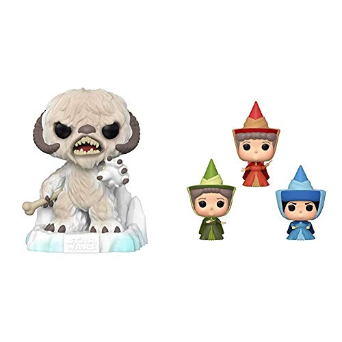"Funko Pop! Deluxe Star Wars: Battle at Echo Base Series - 6"" Wampa, Amazon Exclusive, Figure 1 of 6, Multicolor & Pop! Disney: Sleeping Beauty - Flora, Fauna, & Merryweather Fairy Godmother 3 Pack image"