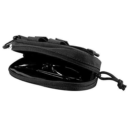 YOPOTIKA Funda para gafas de sol portátil y resistente a los golpes, color negro Negro M