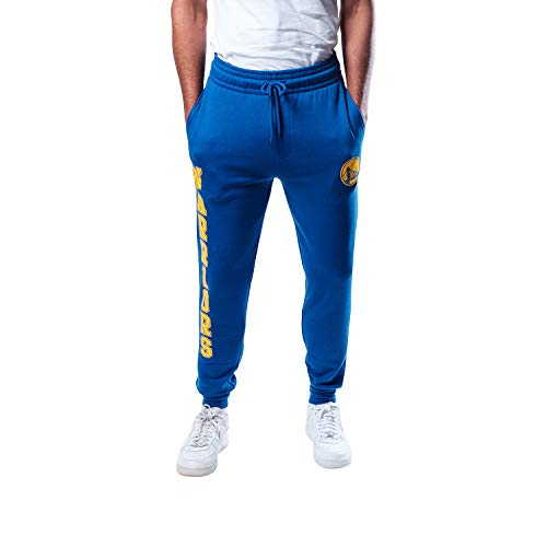 Ultra Game NBA Golden State Warriors Mens Basic Soft Terry Jogger Pants, Team Color, Large