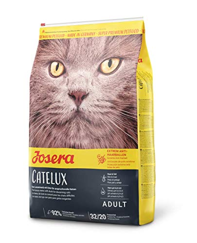 JOSERA Catelux (1 x 10 kg) | Katzenfutter mit Anti-Haarballen-Effekt | Super Premium Trockenfutter für ausgewachsene Katzen | 1er Pack