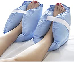 DMI Heel Cushion Protector Pillow to Relieve Pressure from Sores and Ulcers, Adjustable in Size, Sold as a Set of 2, Blue