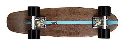 Ridge Unisex-Adult Cruiser Maple Holz Mini Number Two Skateboard, Schwarz, 56 cm