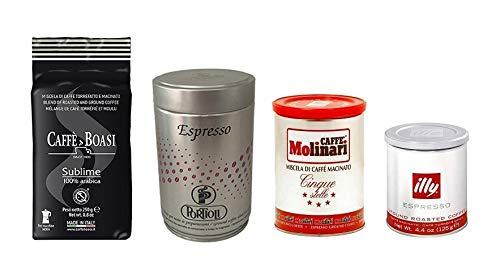 Kaffee Probierset Espresso Gourmet gemahlen, 3 x 250 g, 1 x 125 g (insges. 875 g)