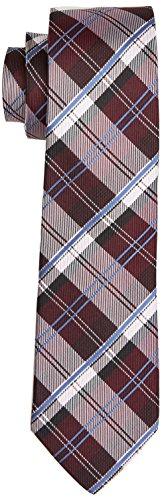 Daniel Hechter Herren TIE 7 CM Krawatte, Rot (Claret 390), 1