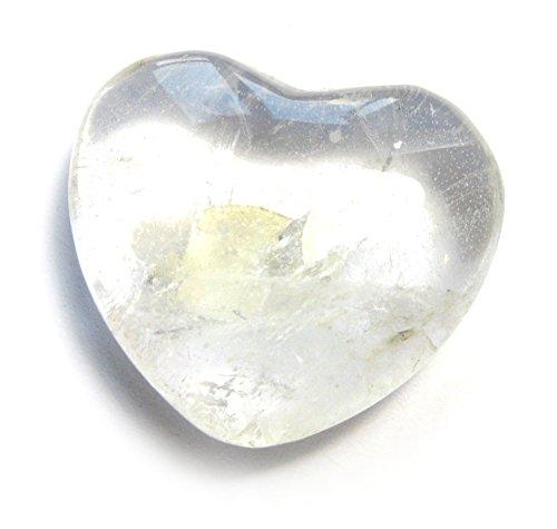 Bergkristall-Herz flach 35 mm