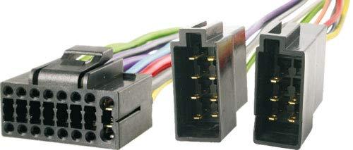 Audioproject A295 - Autoradio Adapter Kabel kompatibel für JVC 16 pin Stecker -> ISO Buchse JVC KD-ADV KD-AV KD-R KD-LX DIN Kabelbaum