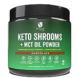 Bean Envy Keto Shrooms – Mushroom Extract Root Powder + MCT Oil Powder + Ashwagandha – Perfect for Keto, Immunity Boost, Weight Loss and Stress Management - Chocolate