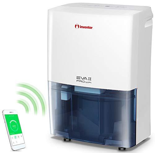 Inventor EVA II Pro Wifi 20 litros/día, Deshumidificador con Acceso Remoto, Secador de Ropa y Deshumidificación Inteligente para Máximo Ahorro de Energía - 2 Años de Garantía
