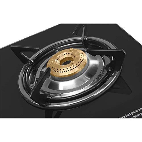 Usha Ebony Neo GS 2003 SS Thick Toughened Glass Top 2 Burner Gas Stove (Black)