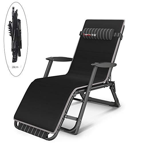HPDOL Liegestuhl Relaxsessel/Multifunktionale schwerelosigkeit Stuhl/Garten armlehne schaukelstuhl/klapp strandkorb /, mit kopfstütze, Textil Stoff, Garten/Outdoor Liege, unterstützung 600 kg,BLCE-02