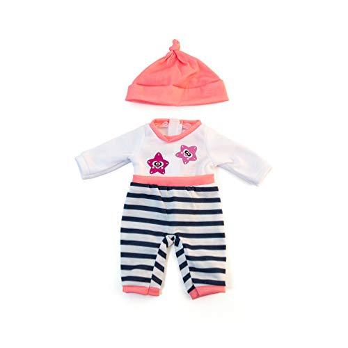 Miniland-31632 Vestido para muñeco, Color salmón...