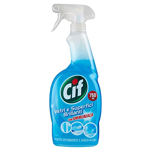 Cif – Nettoyant, vitres et surfaces brillantes avec ammoniaque, sans Halos – G750 ml