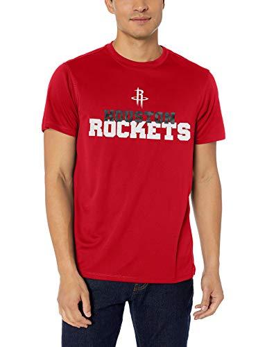OTS NBA - Camiseta de punto de poliéster para hombre - GN-479655-S, playera de lunares., S, Rojo