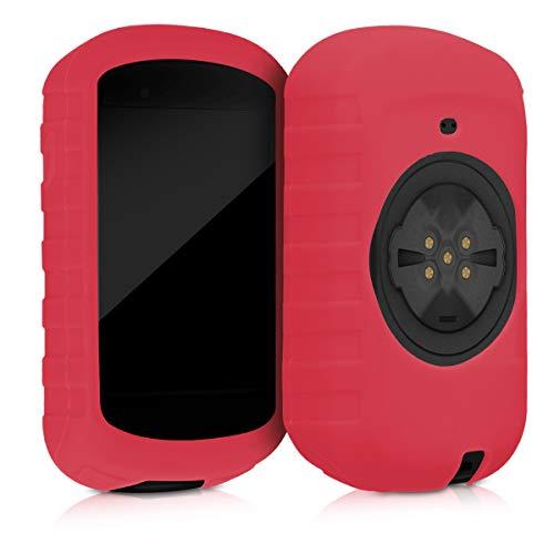 kwmobile Funda para Garmin Edge 830 - Carcasa de Silicona para GPS - Cover para GPS de Bicicleta en Rojo