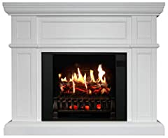 PERFECT FOR NEW HOMES, REMODELS: Whether you are an interior designer, architect, or electric fireplace enthusiast, a MagikFlame is ideal for any living space. Our Artemis is a large white, freestanding electric fireplace that is a cozy focal point f...