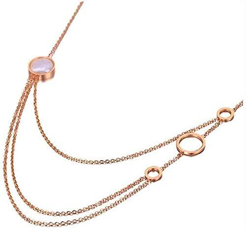 LBBYMX Co.,ltd Halskette Mode Halskette Böhmen Edelstahl DREI Windeln Charm Halskette Strand Schmuck Kette Anhänger Halskette Für Frauen