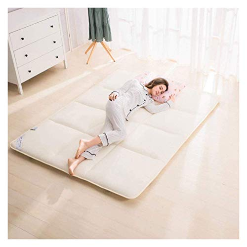 Respirable Plegable Tatami Ground Mat, Tradicional Futon Colchón Pad for Dormitorios Inicio Hotel (Color : Cream Color, Size : 150×200CM)