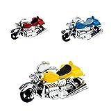 SUCHUANGUANG Nuevo plástico Mini Motocicleta Modelo de Coche de Juguete Modelo de Motor de Juguete para niños Regalo Seguro ecológico ABS Colgante Colgante