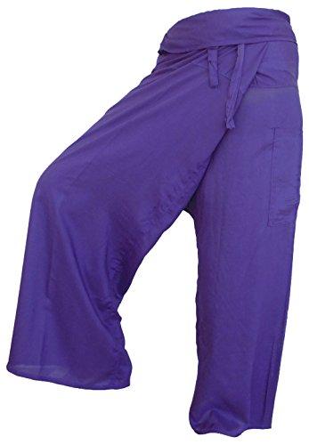 Pantalón de pescador Fisherpant VIOLET Pantalones de yoga Wrap Sport Tailandia Tailandia Tailandés Largo