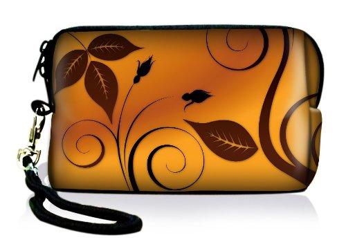 Luxburg® Design Universal cameratas hoes sleeve case voor compacte digitale camera, motief: bloemen en bladeren