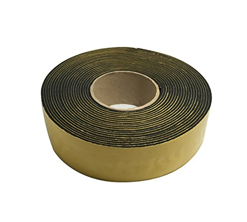 Frost King IT30/8 Rubber Insulation Tape, 2in Wide x 1/8in Thick x 30ft Long, Black