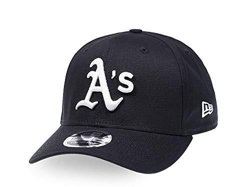 New Era Oakland Athletics Black and White 9Fifty Stretch Snapback Cap - MLB Kappe