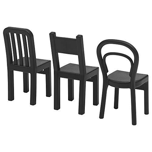Ikea 603.471.02 3-er Set Haken Fjantig Türgarderobe Aufhänger in Stuhlform-Tiefe: 6 cm Höhe: 12 cm-SCHW, Nicht Angegeben