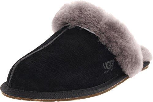 UGG Women's Scuffette Ii Fashion Sneaker, Black/Grey, 7 M US