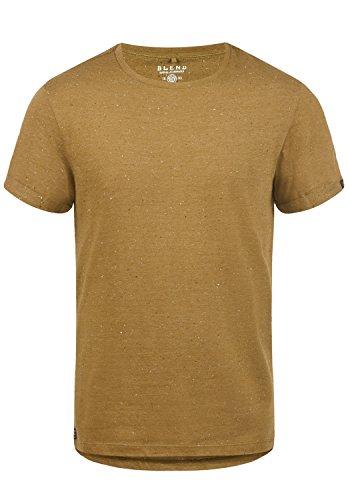 Blend Napito Herren T-Shirt Kurzarm Shirt Mit Rundhalsausschnitt, Größe:L, Farbe:Dijon Brown (75122)