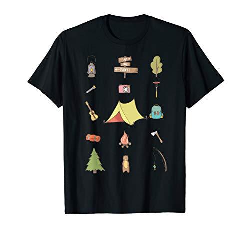 Camping Zelt Fans Lustige Camper Icons Outdoor Geschenk T-Shirt
