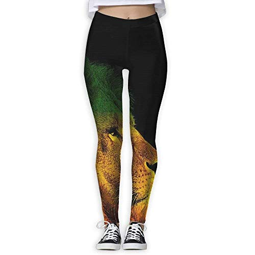 Yuanmeiju Rasta Lion Women s Yoga Pantaloni Capri Leggings Skinny Pantaloni For Yoga Running Pilates Gym(S-XL) Pantaloni