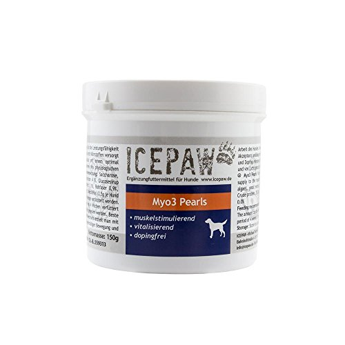ICEPAW Myo3 Pearls -Muskelaufbau bei Hunden, besonders für Turnierhunde geeignet 1 x 150g