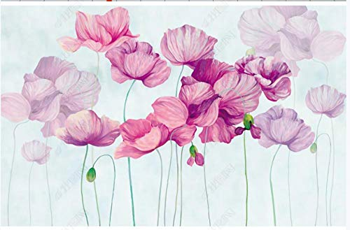 Fototapete Vliestapete 3D Rosa Lila Blumentulpe Fototapete 3D Effekt Tapeten Wanddeko Wandbilder Schlafzimmer 320x230cm