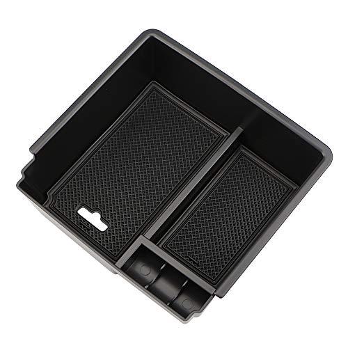 AXYP Car Apoyabrazos Caja Almacenamiento, para Ford Ranger 2012-2018 Armrest Antideslizante Doble Capa Consola Central Organizador Bandeja, Coche Central Storage Box Estilo Accesorios