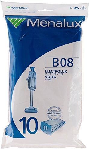 Menalux B08 10 Sacs Aspirateur Compatible pour Electrolux / Volta