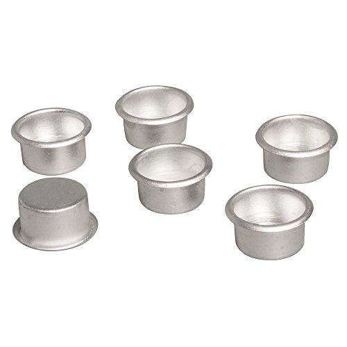 Rayher 56935000 Metall-Kerzenhalter, 2,2cm ø, Box 6Stück