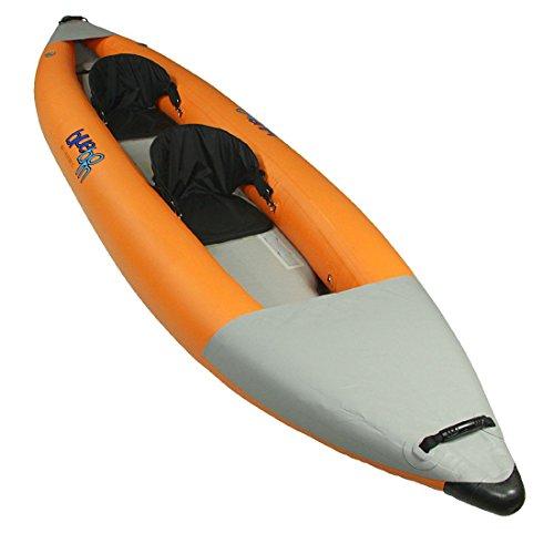 Blueborn SKX Touren di Kayak 365x 90cm Canoa per 2Persone con Alta Pressione Drop Punto del Pavimento e paraspruzzi Barca Canotto Gonfiabile con 215kg di Portata
