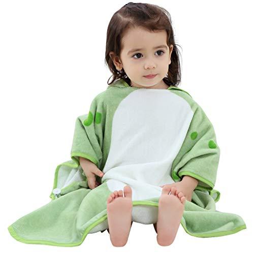 Badjas baby, badhanddoeken kinderen met capuchon jongens meisjes poncho zwemmen deken strandhanddoeken 0-6 jaar groen