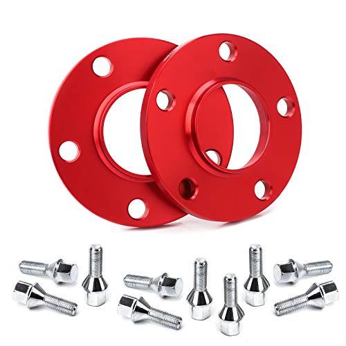 Separadores de rueda CarBole Kit separador de rueda con tornillos LK: 5x120mm | NLB: 72,6 mm 10 mm 2 piezas rojo