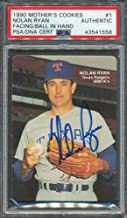 1990 Mother's Cookies #1 Nolan Ryan PSA/DNA Certified Authentic Autographed Signed 1558