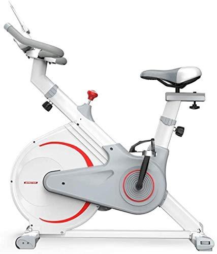 CLI Bicicleta estática Correr en casa Bicicleta estática Asiento cómodo transpirabilidad Buena ergonomía Equipo de Fitness más cómodo Pedal Bicicleta estática Interior Color Blanco: Blanco-bla