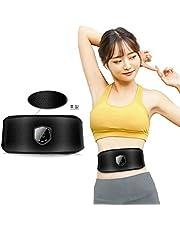 EMS 腹筋 ベルト皮質 EMS ベルト 痩身器具 液晶表示 USB充電式 腰部 お腹8 腕 足 肩 背中 多部位脂肪燃焼 筋肉運動 消耗品なし ゲルマットは不要