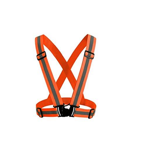 Correr reflectantes Bandas Gear chaleco tobillo Operando brazalete ajustable Ligero y de alta visibilidad de la correa para correr Caminar Ciclismo Montar Correr Naranja ciclo al aire libre Productos