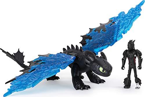 Dreamworks Dragons 6058487 Legends Evolved, Hicks und Ohnezahn, Drache mit Wikingerfigur und Zubehör