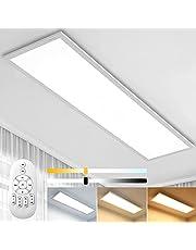 Aimosen Dimbare LED plafondlamp paneel 30x30cm, vierkant inbouw plafondlamp met afstandsbediening, 2700K-6500 K kleurtemperatuur warmwit neutraal wit koud wit licht, bureaulamp, werkplaatslamp, garagellamp